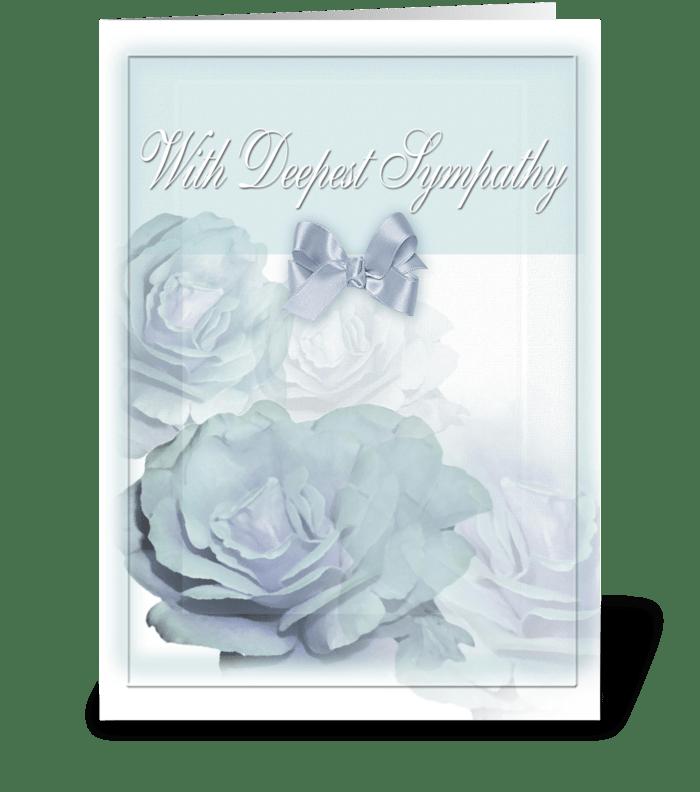 Sympathy and Roses greeting card