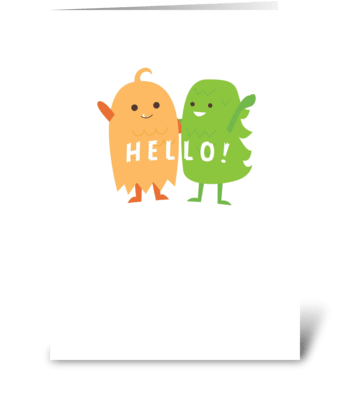 Monster Hello! greeting card