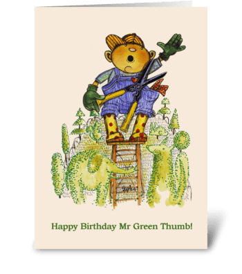 Green Thumb greeting card