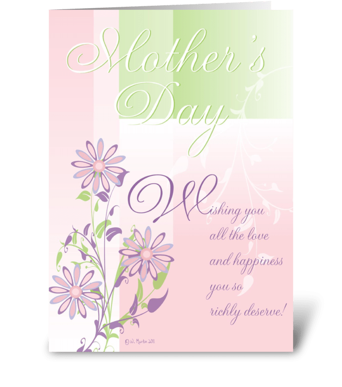 Pastels and Flowers Mother's Day Card greeting card