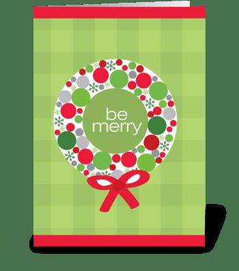 Merry wreath greeting card