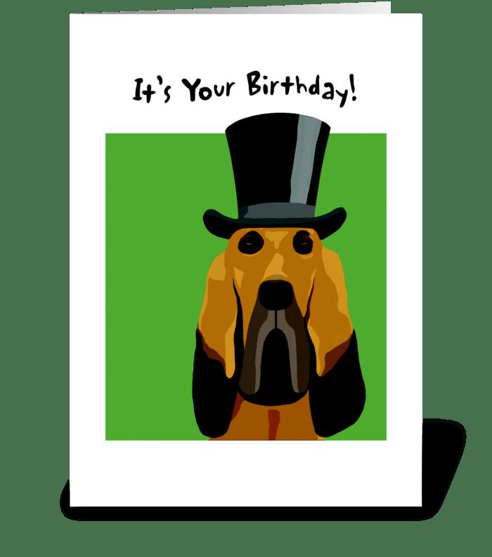 Bloodhound Birthday greeting card