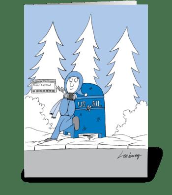 Texting Santa greeting card