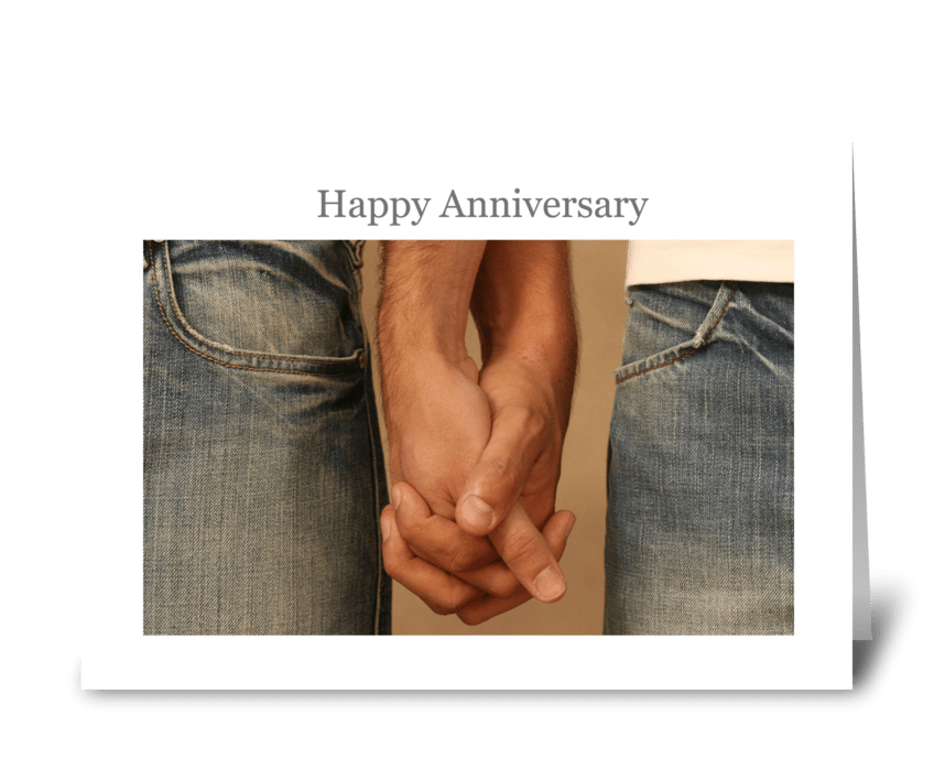 Happy anniversary send this greeting card designed by a little