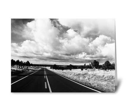 Highway In New Mexico greeting card