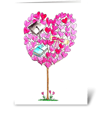 Graduation Tree greeting card