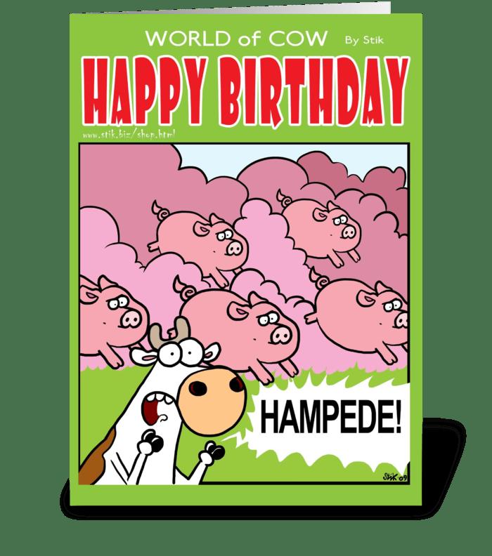 HAMPEDE! Birthday Card greeting card