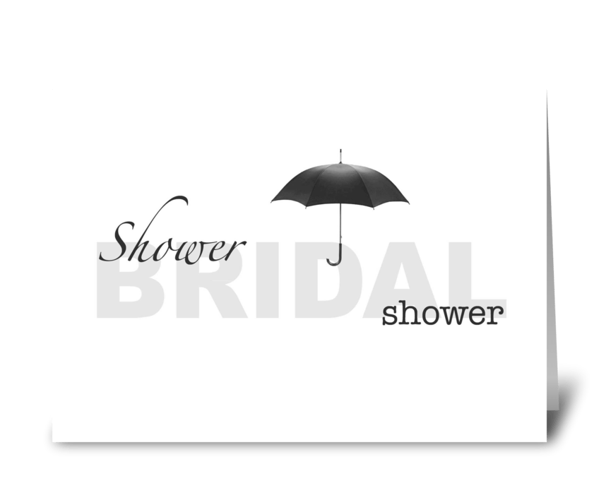 Bridal Shower - white and black greeting card