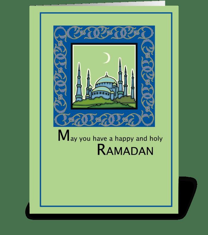 Ramadan, Happy and Holy greeting card