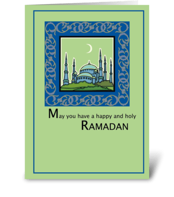 Ramadan, Happy and Holy greeting card