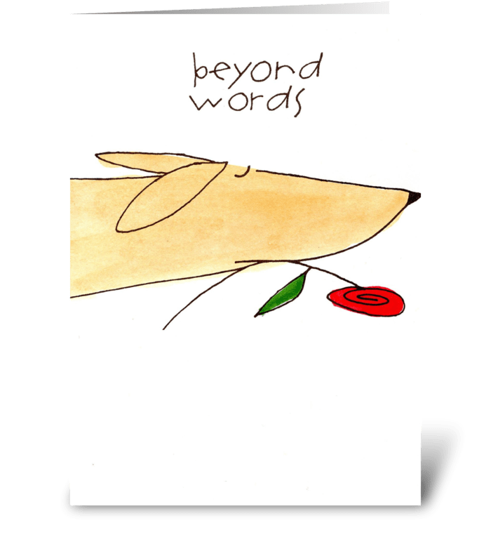 beyond words greeting card