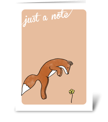 just a note from a fox greeting card