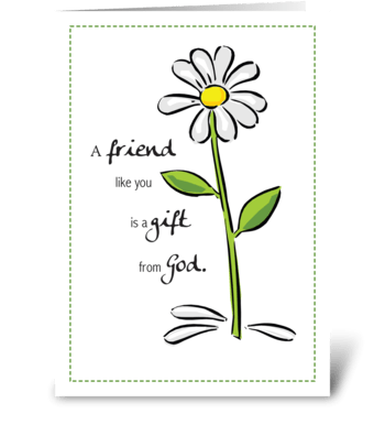 Friend Gift From God Birthday Daisy greeting card