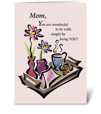 Mother's Day Breakfast greeting card