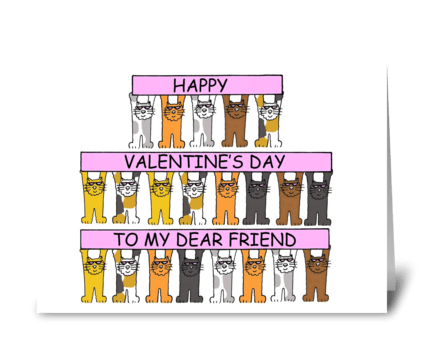 Valentine for friend. greeting card