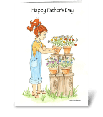 Father's Day Garden of LOVE greeting card