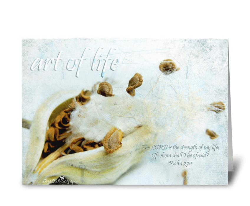 Art of life greeting card
