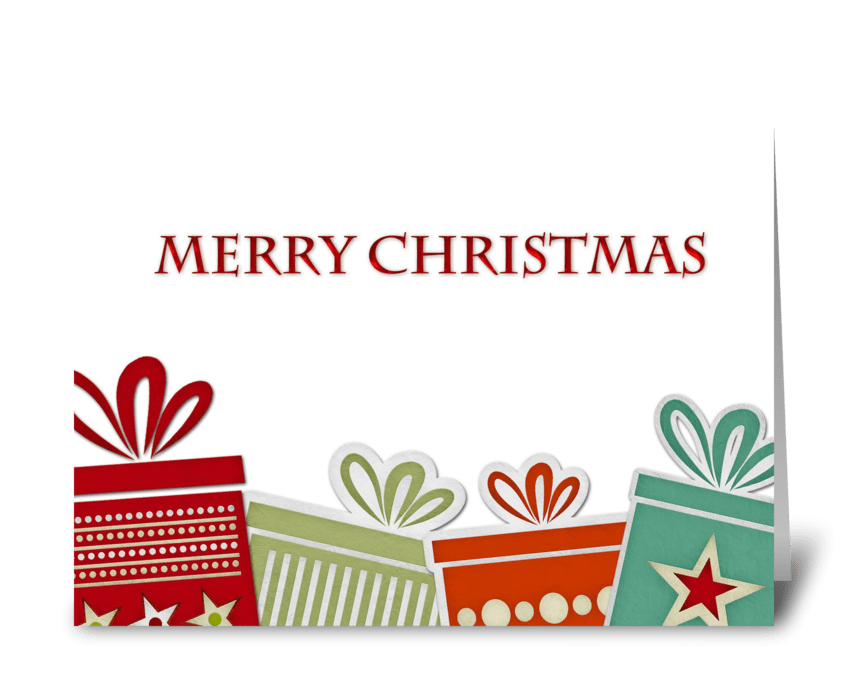 Christmas Gifts, Merry Christmas greeting card
