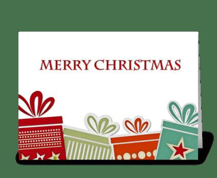 Christmas Gifts, Merry Christmas greeting card