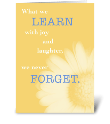 Learn with Joy, Daisy in Yellow greeting card