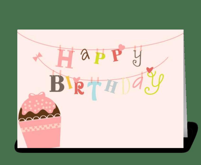 Happy Birthday String greeting card