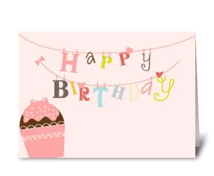 Happy Birthday String greeting card