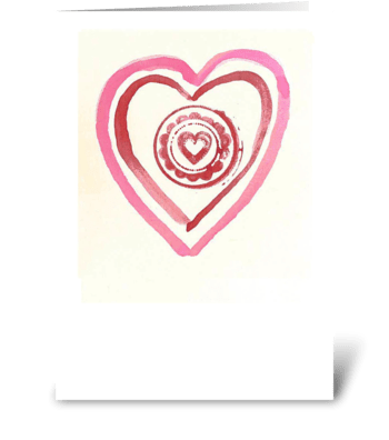 Watercolor - Multiple Hearts greeting card