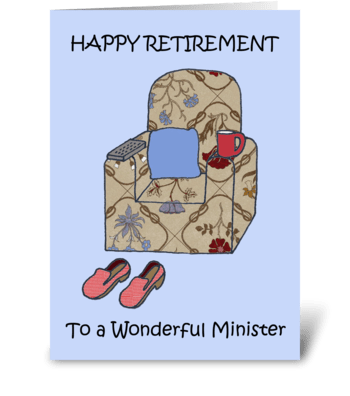 Minister Happy Retirement. greeting card