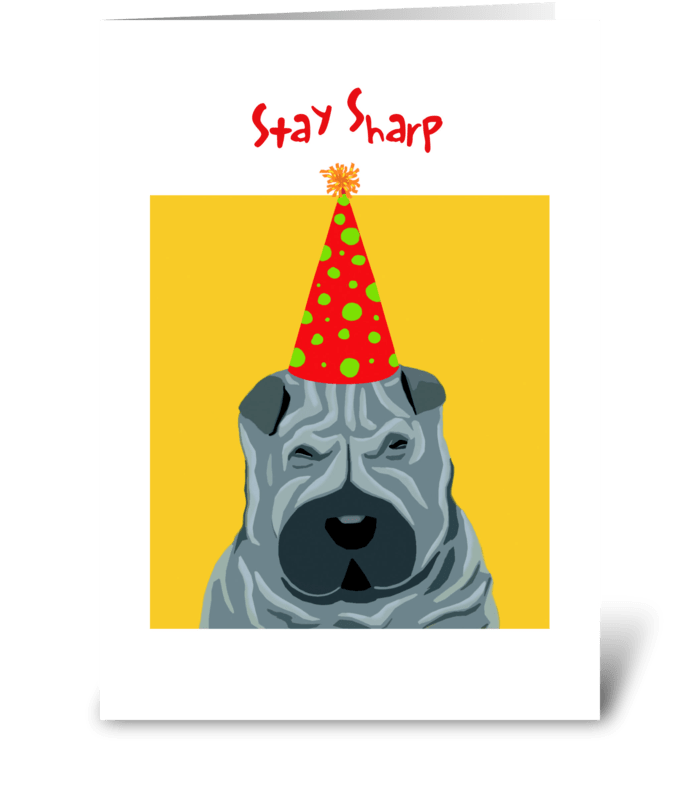 Sharpey Birthday greeting card
