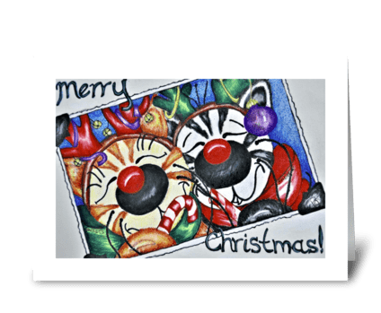 Jabber & Sweets Christmas greeting card