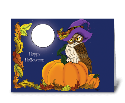 Miss Pumpkin greeting card