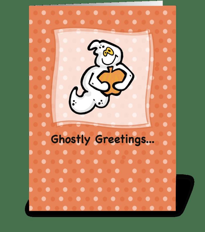 Ghostly Greetings, Halloween greeting card