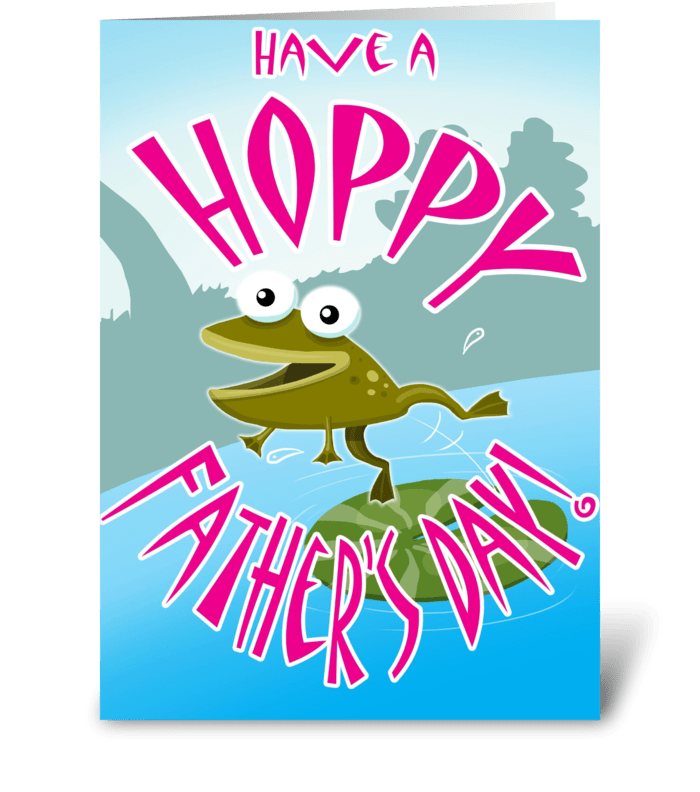 Have a Hoppy Father's Day greeting card