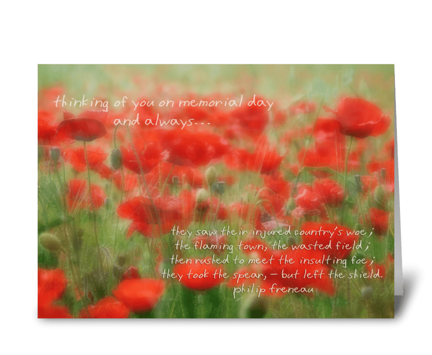 Thinking of you on memorial day send this greeting card designed thinking of you on memorial day greeting card m4hsunfo