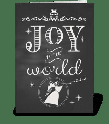 Chalkboard Christmas Joy to the World greeting card