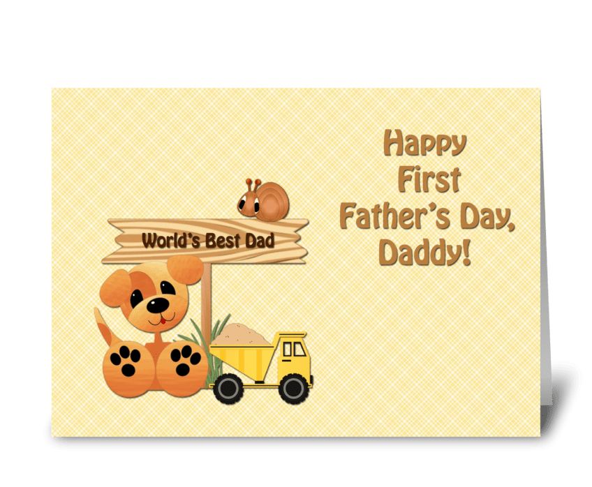 Happy First Father's Day, Toys  greeting card