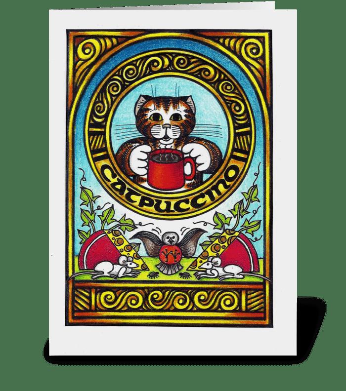 Catpucinno greeting card