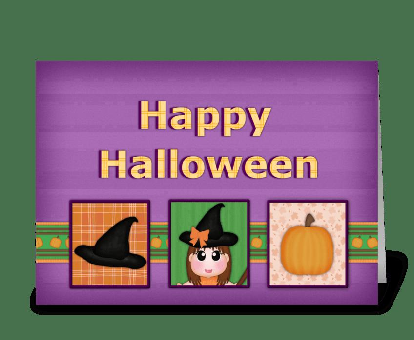 Halloween Greeting greeting card