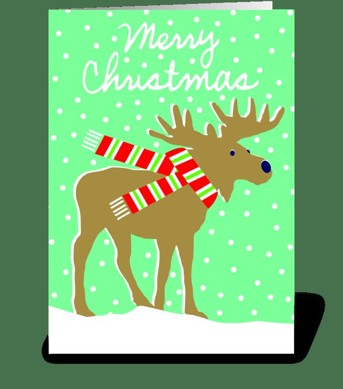 Friend of Santa (moose) greeting card