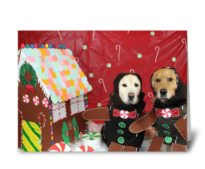 A Gingerbread Christmas greeting card