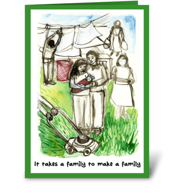 Thanks from new family greeting card