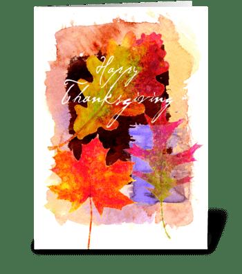 Thanksgiving Love greeting card