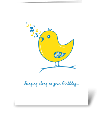 Singing along on your Birthday greeting card