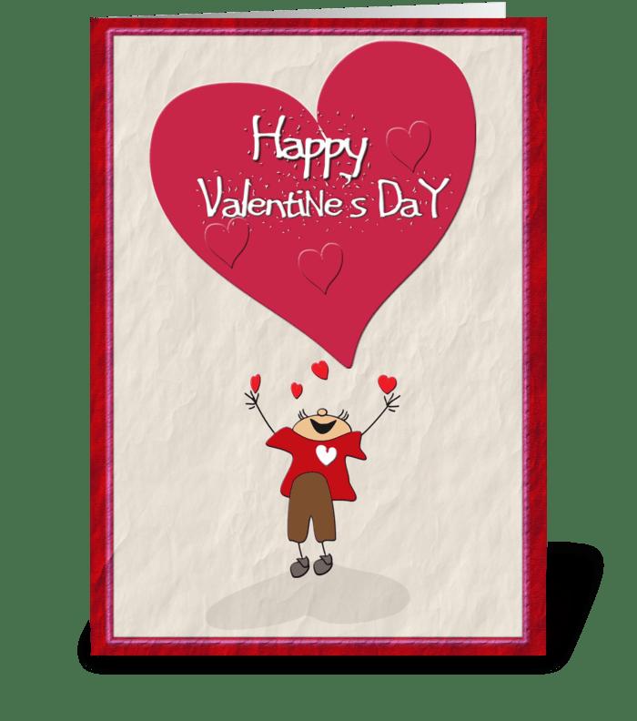 Happy Valentine's Day, Big Heart greeting card