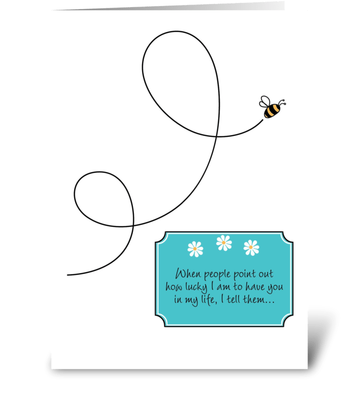 Thinking of You - Loop-de-Loop Bee greeting card