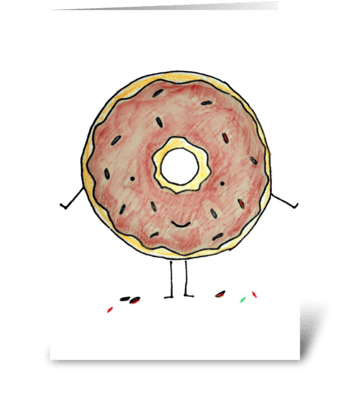 Donut with Sprinkles greeting card