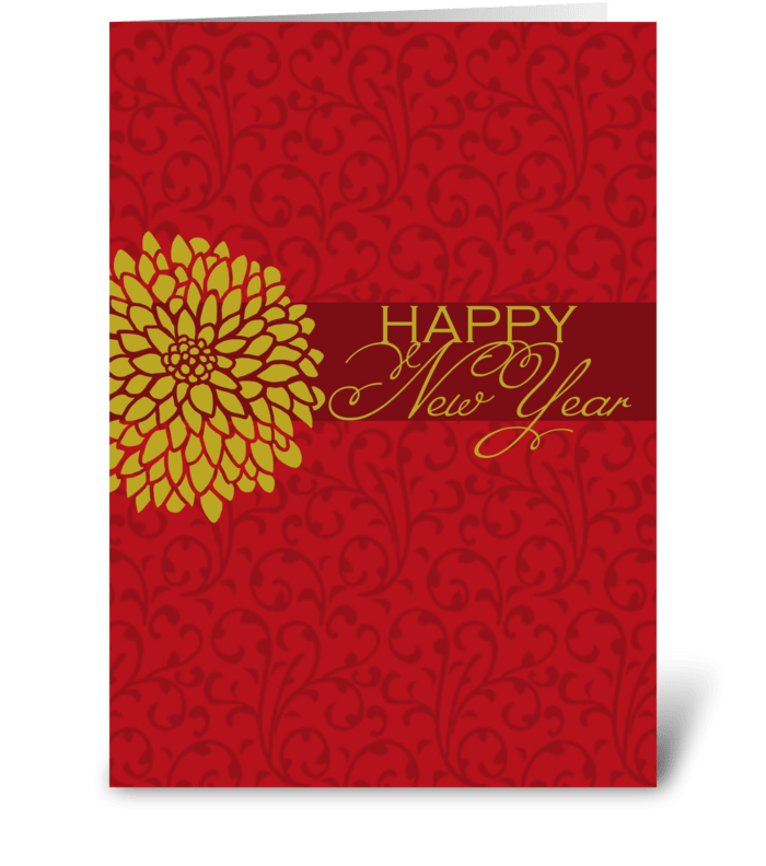 Chinese New Year - Chrysanthemums greeting card