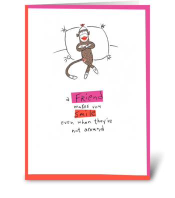 A Friend makes you Smile greeting card