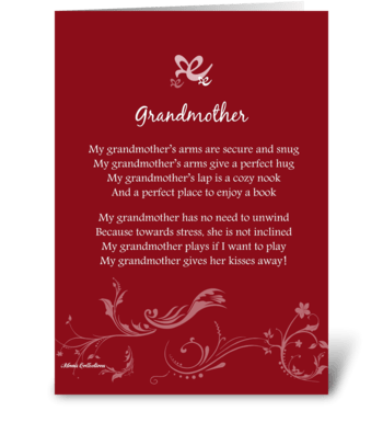 Poetry Grandmother greeting card