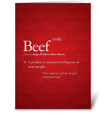 Beef greeting card